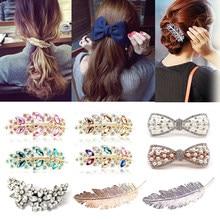 Grampo de cabelo feminino barrette hairpin apertos de cabelo headwear meninas ornamento de cabelo acessórios para o cabelo feminino senhoras multic estilos