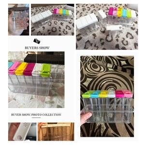 Image 5 - Juego de 2 unidades de tarros de plástico para botellas, organizador de condimentos, cajas de condimentos, cajas de almacenamiento para la cocina, accesorios para Organización del hogar