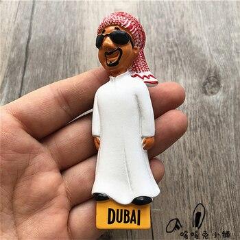 Imán para el refrigerador de resina, pasta de fotos, decoración de nevera, recuerdos de Turismo, tío de Dubai, árabe, 3D