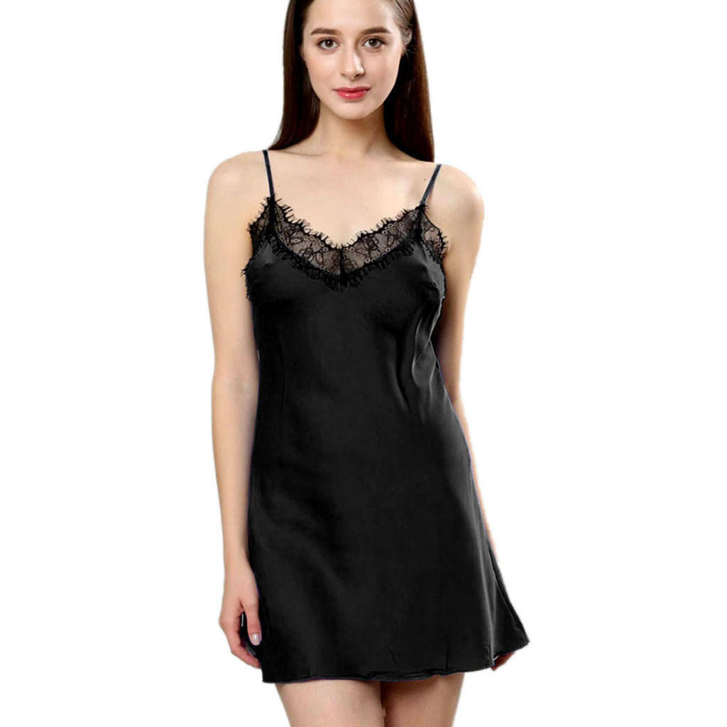 Women's <font><b>Sexy</b></font> Lace Night Dress <font><b>Lingerie</b></font> Sleepwear <font><b>Sexy</b></font> <font><b>Camisola</b></font> Nightwear <font><b>Plus</b></font> <font><b>Size</b></font> Babydoll <font><b>Sexy</b></font> Nightgowns Summer Mini Nighty image