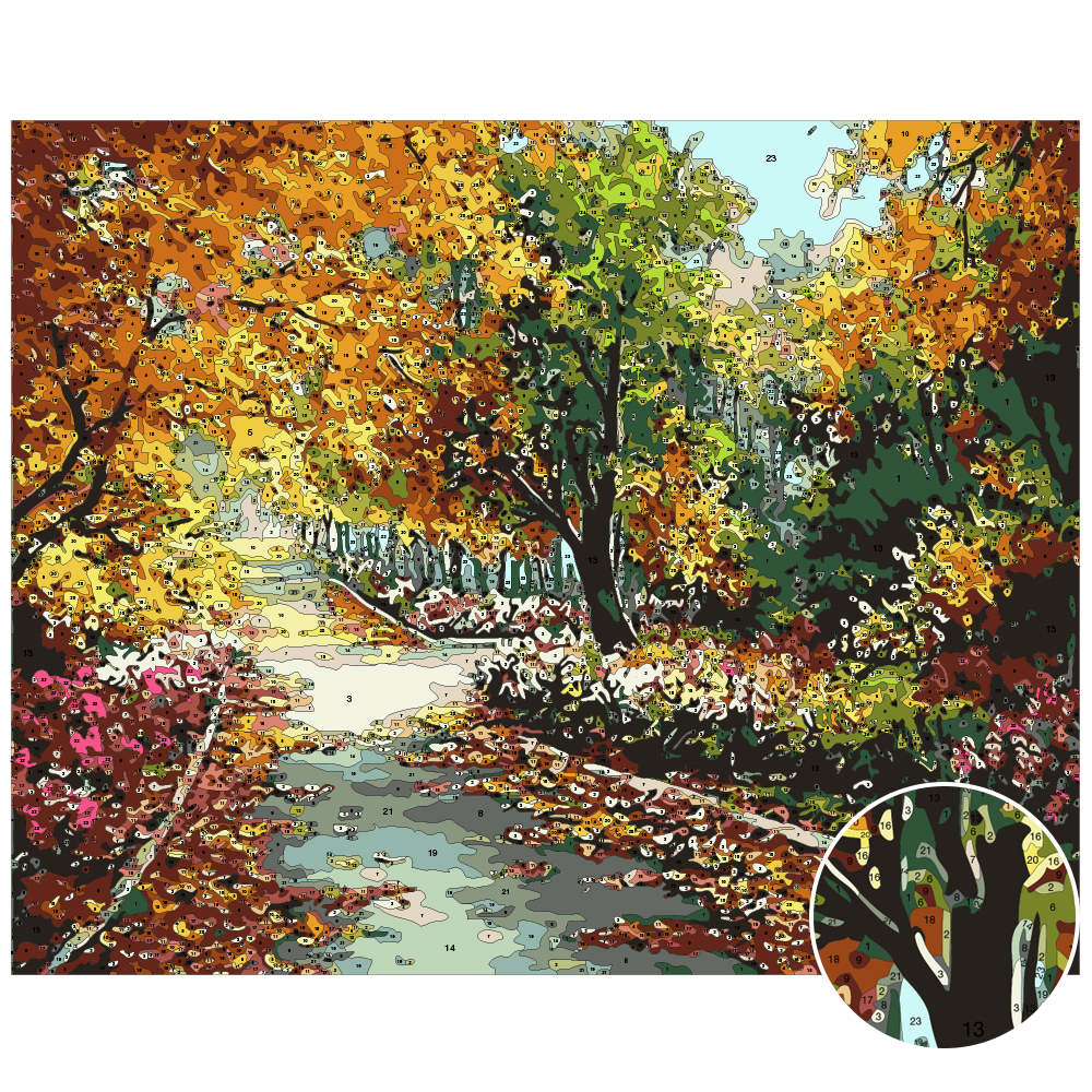 EverShine Painting By Numbers Natural Scenery Oil Paint By Numbers For Adults Autumn On Canvas HandPainted Home Decor-1