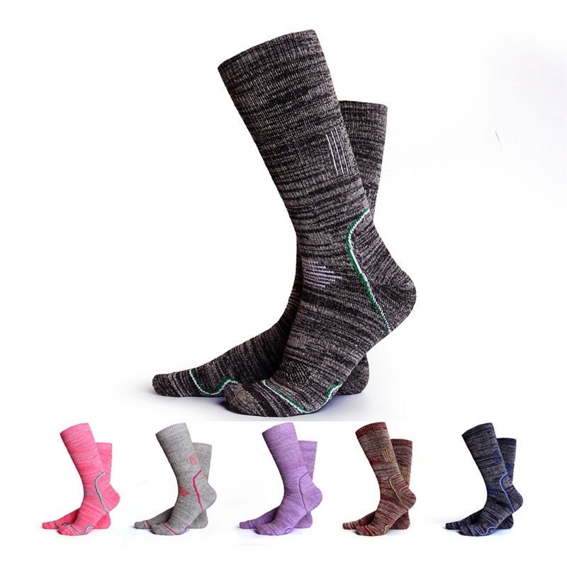 Men Women Winter Cotton Outdoor Thermal Sports Socks For Camping Hiking Ski Snowboard Skateboard Cycling Trekking Thermosocks