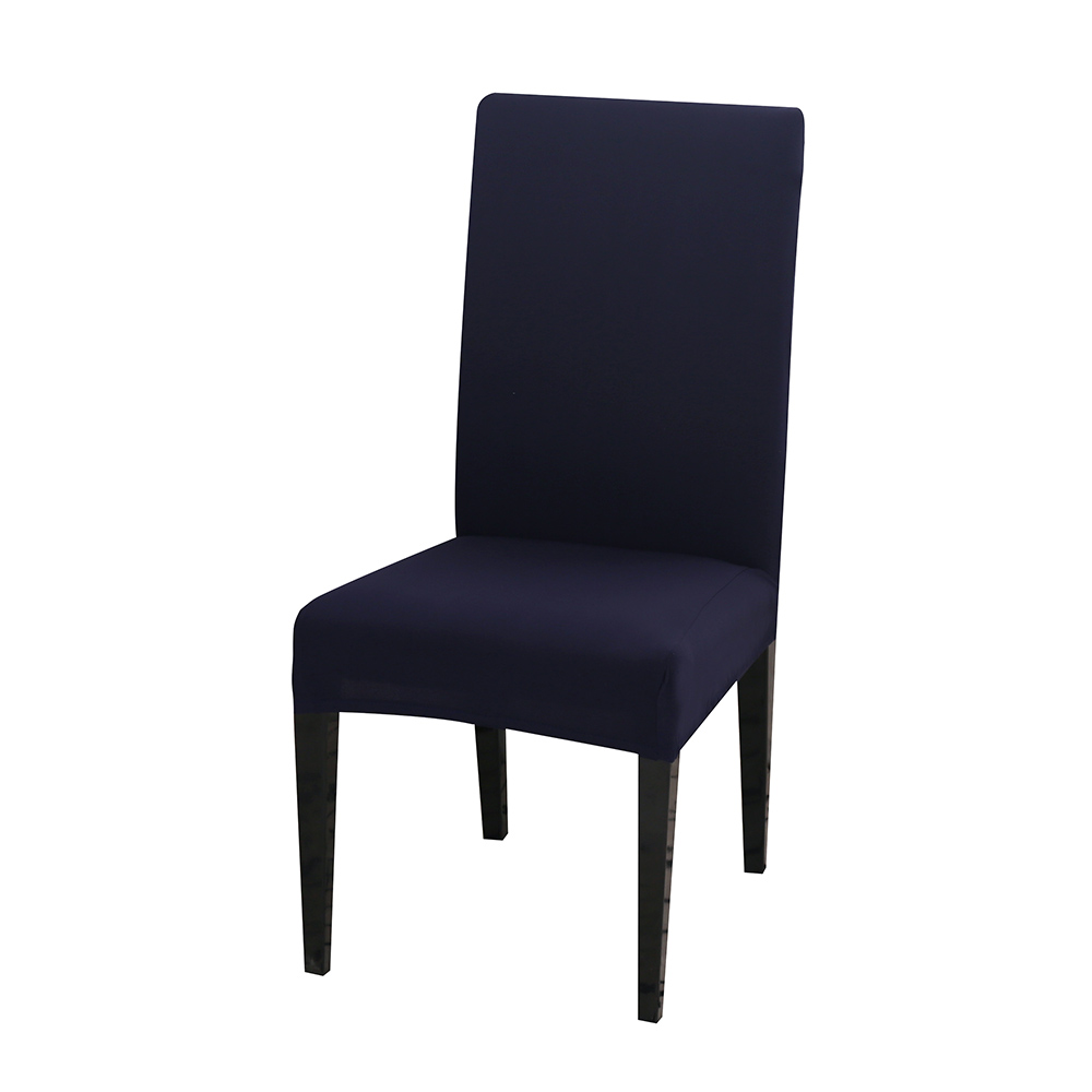 Solid Color Chair Cover of Spandex Material with Elastic for Dining Room and Wedding Hall 18
