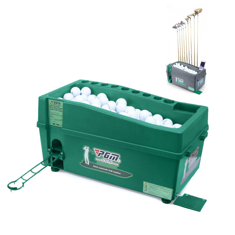 Semi-automatic Golf Ball Machine Automatic Golf Ball Dispenser With Golf Clubs Holder ABS Material Golf Training Service Machine