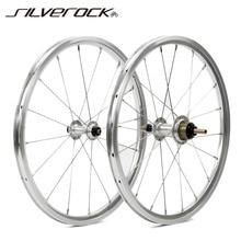 """SILVEROCK bisiklet tekerlek 1 3 hız 16x1 3/8 """"349 Kinlin NB R jant 14H 21H brompton 3 altmış Ultralight katlanır bisiklet jantlar 800g"""
