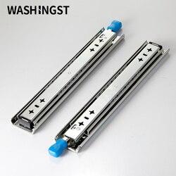 Extension complète résistante avec la glissière de tiroir de serrure 120kg coureur de tiroir de capacité portante avec le Rail de tiroir de serrure