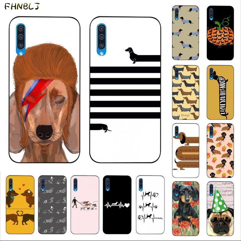 FHNBLJ Dackel Silhouette Hund DIY Druck Telefon Fall abdeckung Shell für Samsung A10 20s 71 51 10 s 20 30 40 50 70 A30s abdeckung