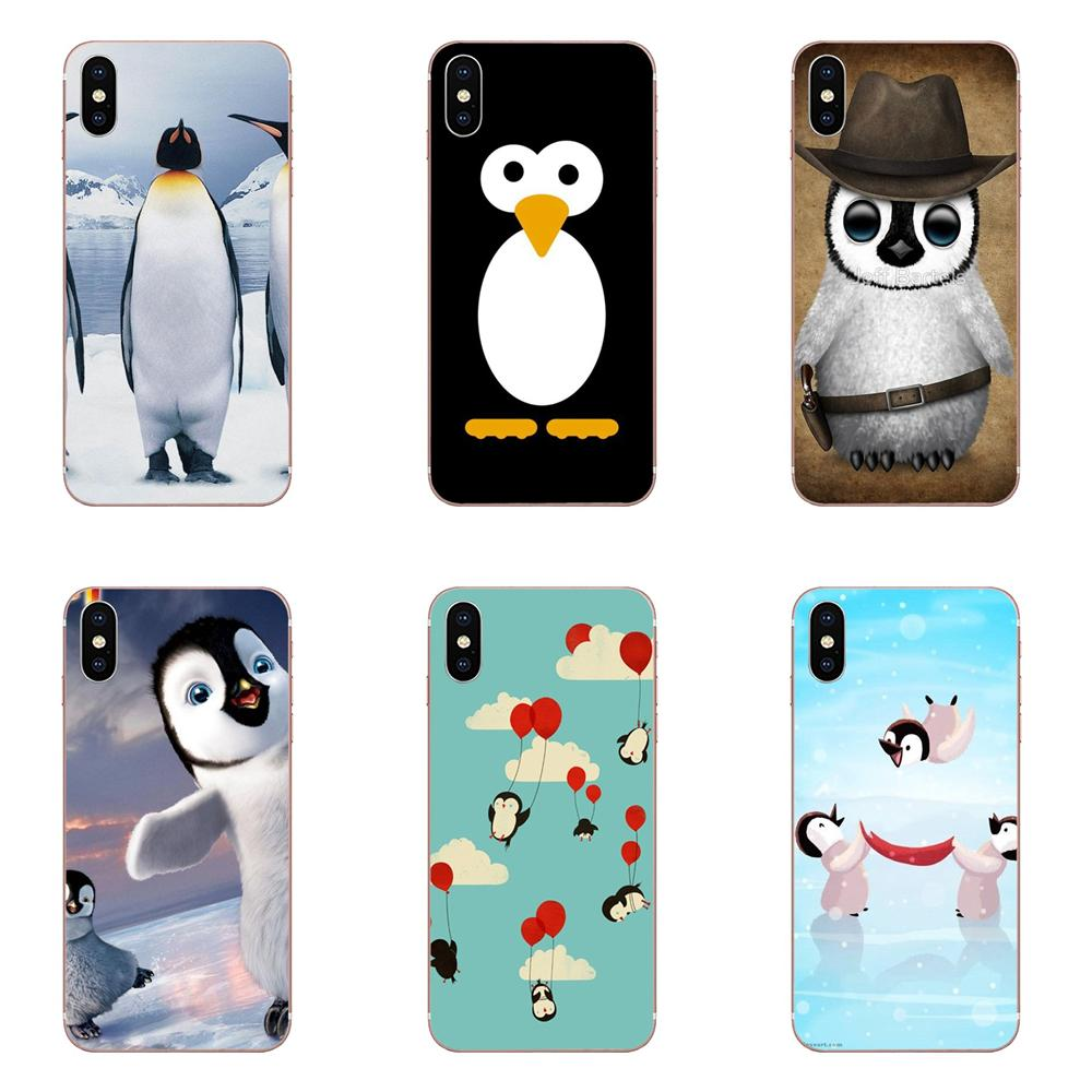 Ultra Thin Cartoon Pattern Arctic Penguins For Galaxy Grand A3 A5 A7 A8 A9 A9S On5 On7 Plus Pro Star 2015 2016 2017 2018 image
