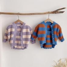 Baby Sweaters Knitted Toddler Girl Cute New Autumn Cotton Striped Long-Sleeve Boys Winter