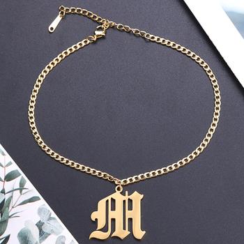 Lateefah niestandardowa bransoletka nazwa stara angielska bransoletka biżuteria podkreślająca osobowość tabliczka znamionowa bransoletka angielska nazwa bransoletka prezent dla niej tanie i dobre opinie Chain link bransoletki Kobiety STAINLESS STEEL moda Klasyczny Metal łańcuszek Zgodna ze wszystkimi GEOMETRIC Z wystającym oczkiem