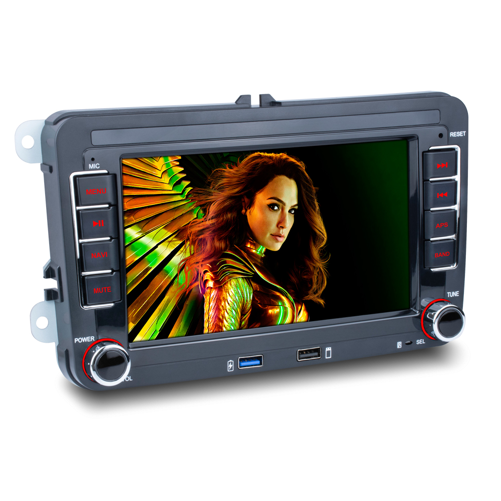 Android 8.1 2 Din Car <font><b>radio</b></font> Multimedia Player GPS Stereo For Volkswagen Skoda <font><b>VW</b></font> Passat Polo Golf <font><b>Touran</b></font> Sharan Jetta Caddy image