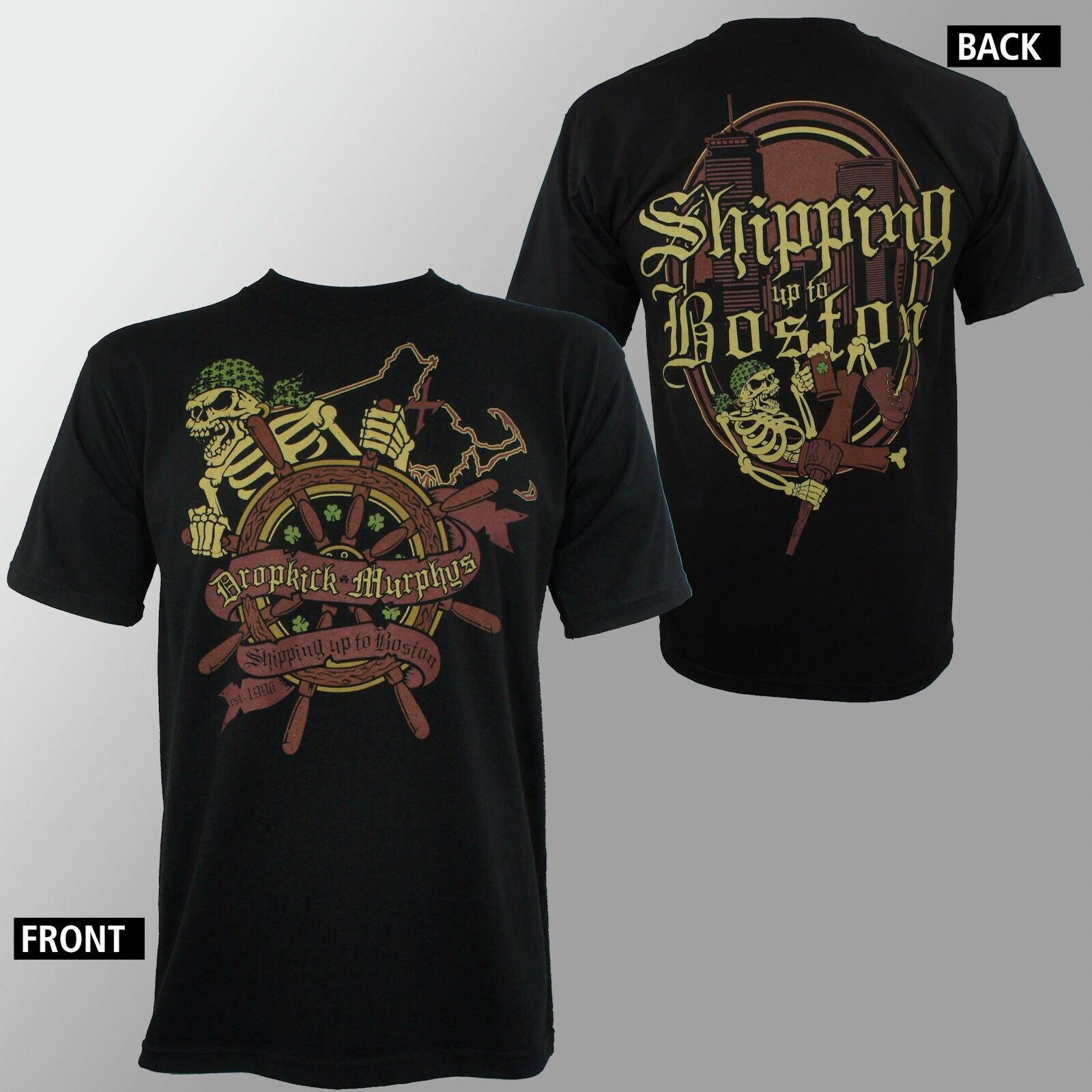 Authentic DROPKICK T Shirt For Men Harajuku MURPHYS Shipping Up To Boston T-Shirt S M L XL 2XL NEW