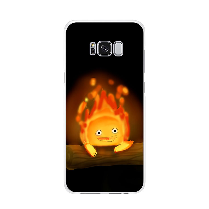 Cute Fire Calcifer Fiery Patterned Soft Silicone Phone Case For Samsung Galaxy S20 Ultra S10 S9 S8 Note10 Pro S10e Note9 S10lite