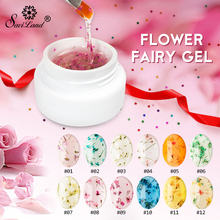 Saviland 2017 Newest DIY Natural Dried Flower Fairy Nail Gel Polish Floral Soak Off Manicure UV Nail Art Gel Glue(China)