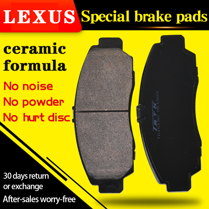 4 pièces/adapté pour LEXUS CT IS ES LS GS UX NX RX LX GX LC RC RC F plaquette de frein avant et arrière