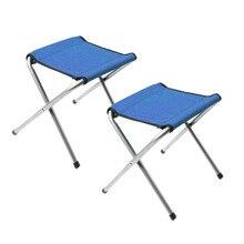 2 шт складной Кемпинг стул Портативный Легкий стул для рыбалки для походы, рыбалка, пеший туризм садоводства и пляжа