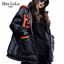 Jackets Snow Max-Lulu Padded-Coats Parka Hooded Streetwear Vintage Korean-Fashion Plus-Size