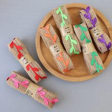2m 2-3cm simulado multi-cor rattan folha decorativa cinto de serapilheira fita de linho diy artesanato caixa de presente embalagem suprimentos de festa