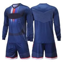 2015 camisetas de futbol survetement soccer jerseys Men Soccer Jerseys Set Goalkeeper Jersey Doorkeepers Survetement Football Training Kits Sponge Protector Long Sleeves Tracksuit