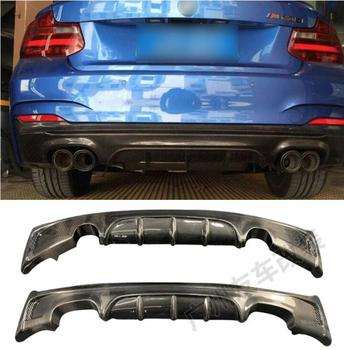 REAL CARBON FIBER REAR BUMPER TRUNK LIP SPOILER DIFFUSER For BMW 2 Series F22 F23 M235i M220i 2014 2015 2016 2017 image