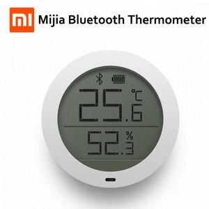 Image 1 - Higrotermógrafo Bluetooth Xiaomi Mijia, higrómetro de alta sensibilidad, termómetro, pantalla LCD, Sensor inteligente de humedad y temperatura para el hogar