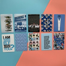10Pcs Kpop Super Junior New Album Crystal Card Sticker Photo Stikcy Card Lomo Photo Card Sticker 18pcs set kpop mamamoo reality in black album melting photo version for student card bus pvc crystal card