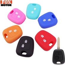 2 BUTTON SILICONE KEY COVER FIT FOR CITROEN C1 C2 C3 C4 XSARA PICASSO PEUGEOT 106 107 206 207 307 ForTOYOTA AYGO REMOTE CASE FOB