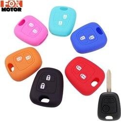 Couvercle de clé en SILICONE à 2 boutons pour citroën C1 C2 C3 C4 XSARA PICASSO PEUGEOT 106 107 206 207 307 pour toyota AYGO télécommande