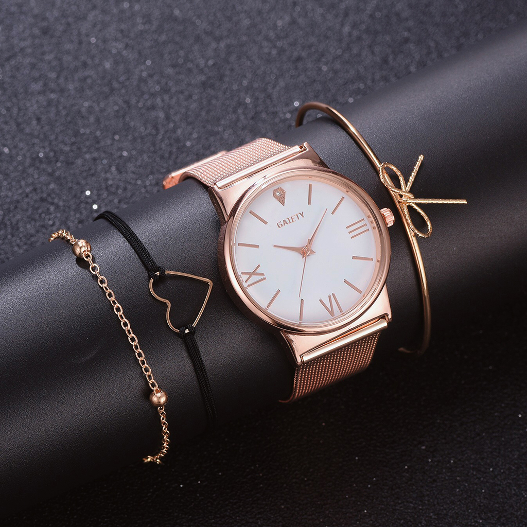 GAIETY Brand Women Stainless Steel Watches Fashionable Ladies Quartz Wristwatches Luxury Women's Watch Female Clock Reloj Mujer