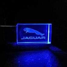 Logo-Drive Crystal Customize-The-Logo JAGUAR Led-Lights Glass 16GB 8GB Can 32GB 64GB