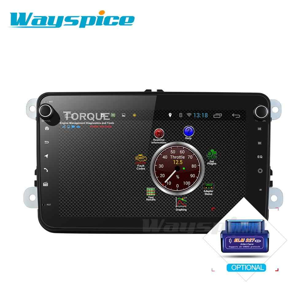 Автомобильный dvd gps навигатор для skoda для volkswagen golf polo tiguan passat 2 din gps плеер стерео android 9,0 PX6