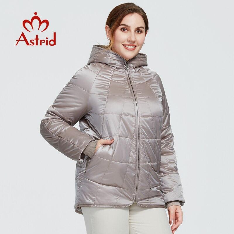Astrid 2020 новое осенне зимнее женское пальто Женская ветрозащитная теплая парка модная клетчатая куртка с капюшоном больших размеров женская одежда 9385 Парки      АлиЭкспресс