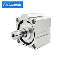 SDA63*40,g 63mm Bore 40mm Stroke Compact Air Cylinders SDA63X40 Dual Action Air Pneumatic Cylinder