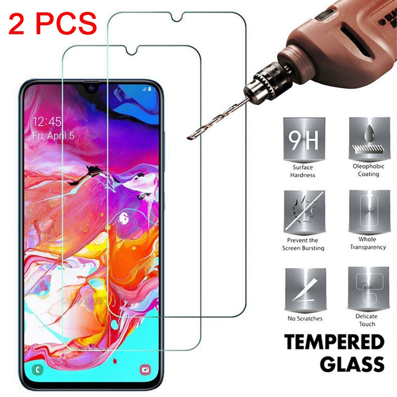 2PCS Tempered Glass For Samsung A50 A70 A30 A20S A 51 A 71 Glass Screen Proetcor On Samsung Galaxy A 50 A 70 A20E A20 S 9H Glass