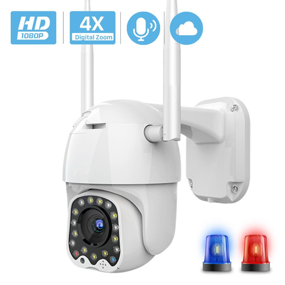 Camera Outdoor Siren-Light Wifi Ptz Auto Tracking 2MP 1080P With Cloud 4x-Digital-Zoom-Speed