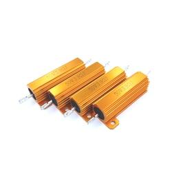 5 pces 390r 390ohm 390 3.9r 3.9ohm 3.9 r ohm 50w alumínio power metal caso escudo resistência resistor wirewound rx24