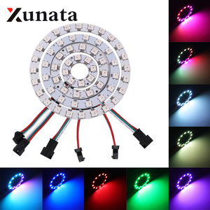 WS2812B LED Chip & Heatsink 1 8 12 16 24 32 40 48 60 93 241 LEDs 5V 5050 RGB WS2811 5050 RGB LED Ring ic Built-in