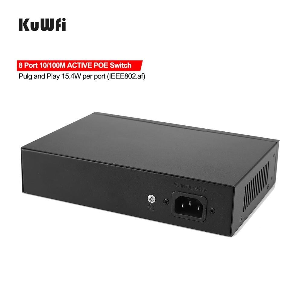 48V POE Switch 10/100/1000mbps Ethernet Switch 8Port Gigabit Switcher RJ45 Hub 8Port POE + 2Port Uplink Distance 50-100M 3