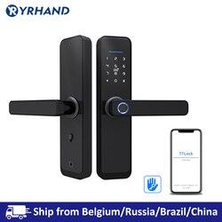 Tt Lock App Wifi Smart Vingerafdruk Deurslot, Elektronische Deurslot, smart Bluetooth Digitale App Keypad Code Keyless Deurslot