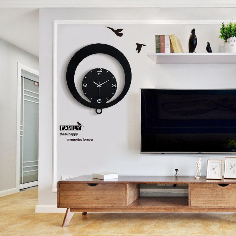 Horloge murale Design moderne mode montre calme pour décor mural belle poêle frite électronique Relog Paredes livraison gratuite nouveau GG50gz
