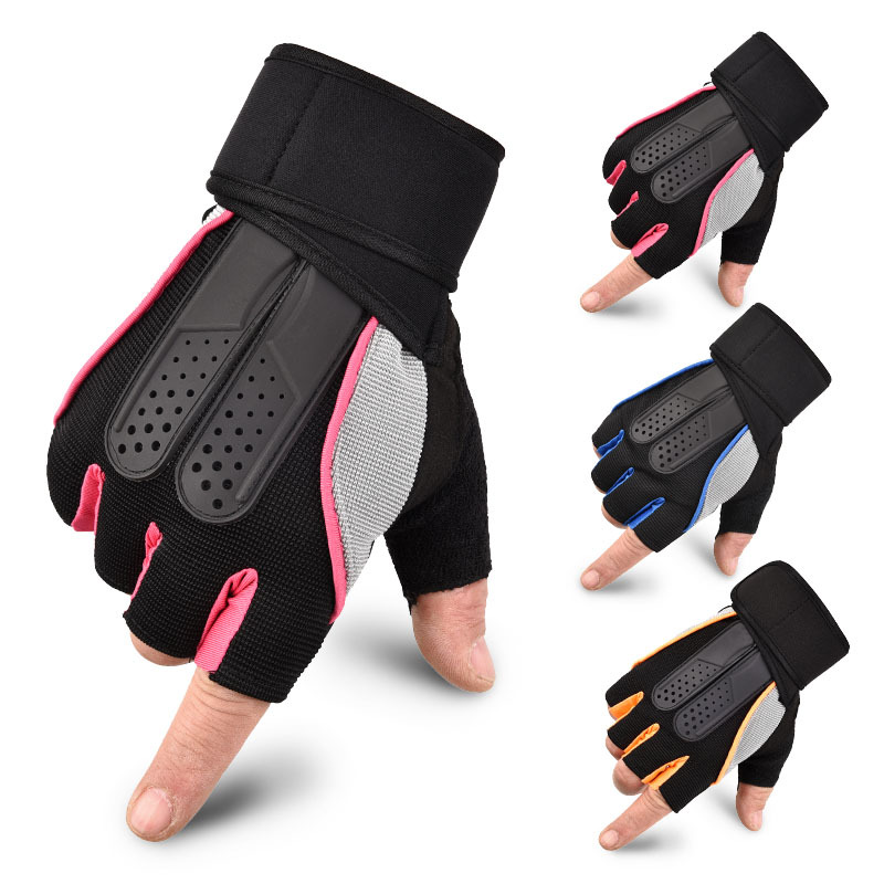 3D Fitness Heavyweight Training Half Finger Gloves Non Slip Breathable Extended Wrist Support Bodybuilding Weightlifting Sports|Fitness Gloves|   - AliExpress