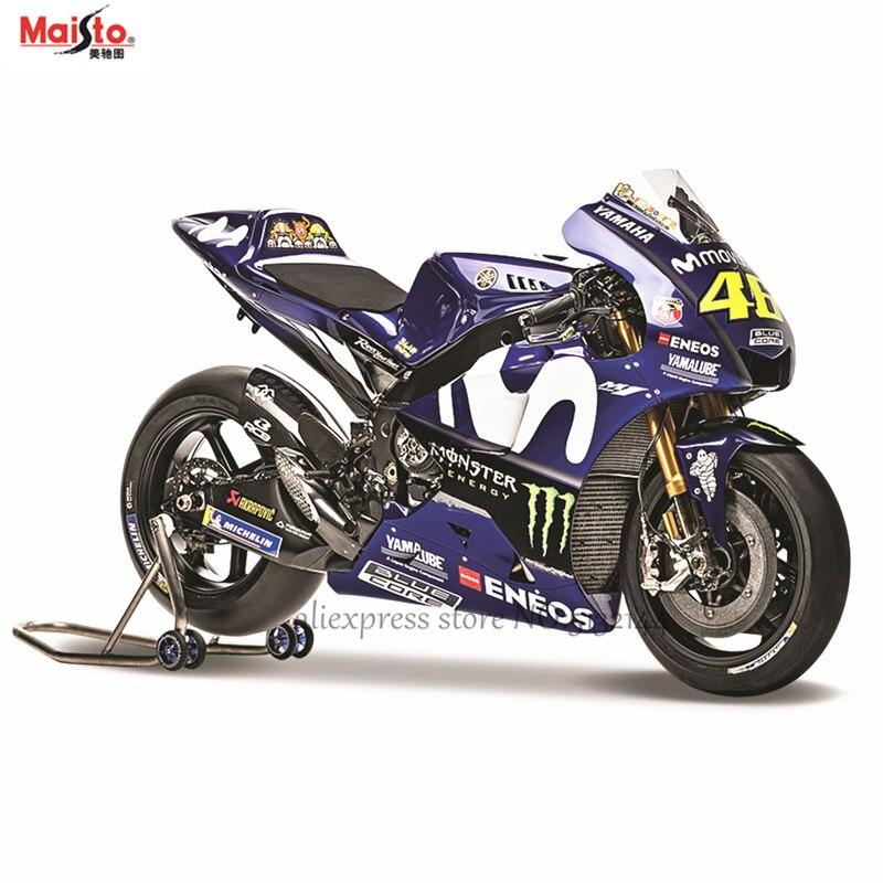 Maisto 1:18 2018 Yamaha Factory Racing Team N °: 46 original autorizado simulação modelo de moto liga brinquedo do carro Dom coleção