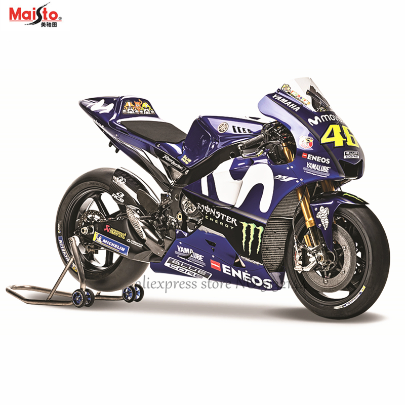 Maisto 1:18 2018 Yamaha Factory Racing Team NO:46 Original Authorized Simulation Alloy Motorcycle Model Toy Car Gift Collection