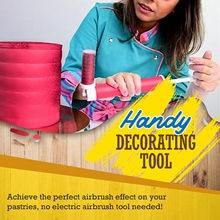 Novo manual do bolo pistola de pulverização colorir ferramentas de decoração de cozimento bolo pastelaria pulverização tubo manual do bolo airbrush ferramentas de cozimento