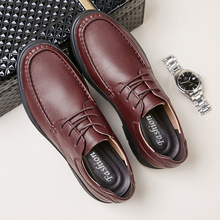 New 2019 High Quality Genuine Leather Shoes Men Flats Fashion Men's Casual Shoes Brand Man Soft Comfortable Lace Up Black %7016 2017 new british style men casual soft genuine leather shoes canvas leisure fashion famous brand high quality black brown red