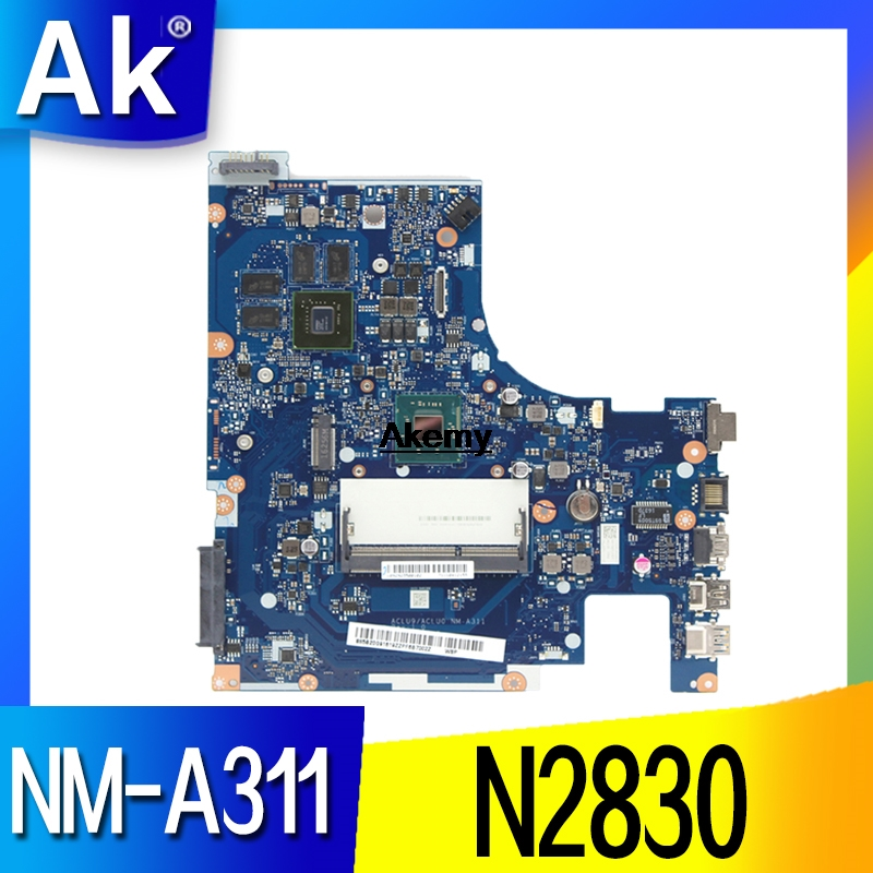 Lenovo ACLU9 / ACLU0 <font><b>NM</b></font>-<font><b>A311</b></font> motherboard for Lenovo G50-30 notebook motherboard CPU N2830 GT820M 1G DDR3 100% test work image