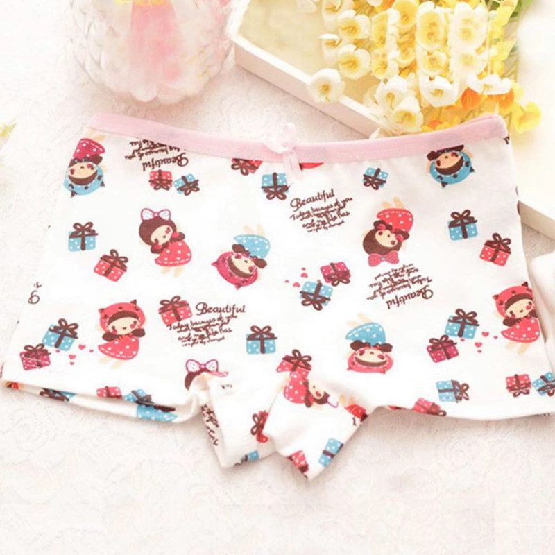 3Pcs/lot Girls Boxer Underwear  Baby Panties Girls Cotton Underpants Shorts  for 2-10 Years 4