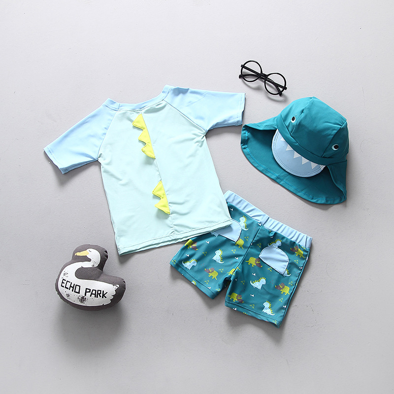 South Korea CHILDREN'S Swimwear Swimming Baby Infant BOY'S Clothing Small CHILDREN'S BOY'S Points Chinlon Child Sun-resistant Su