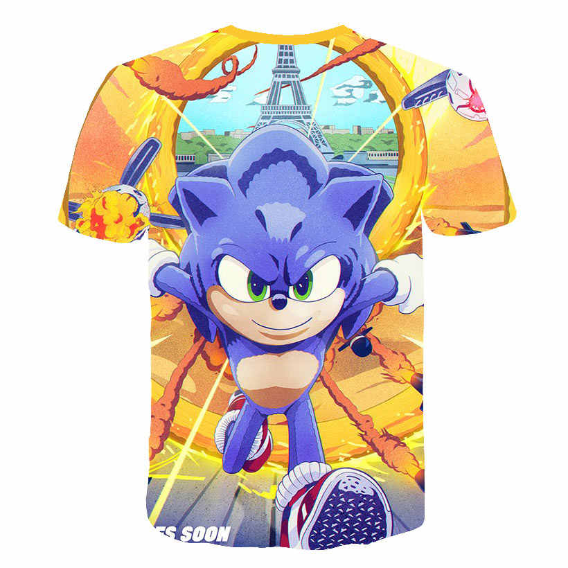 3d Fashion Sonic The Hedgehog Girls Clothes Baby Boys Colorfast Summer Funny T Shirts Boys Clothes Costume Kids Camisetas Casual Aliexpress