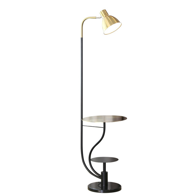 Post Modern Pallet Floor Lamp Gold Metal Lamp Body Art Decoration